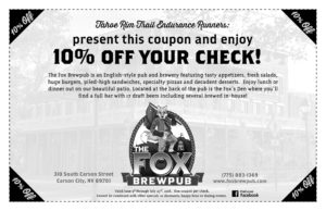 The Fox BrewPub TRTER 2018 Coupon